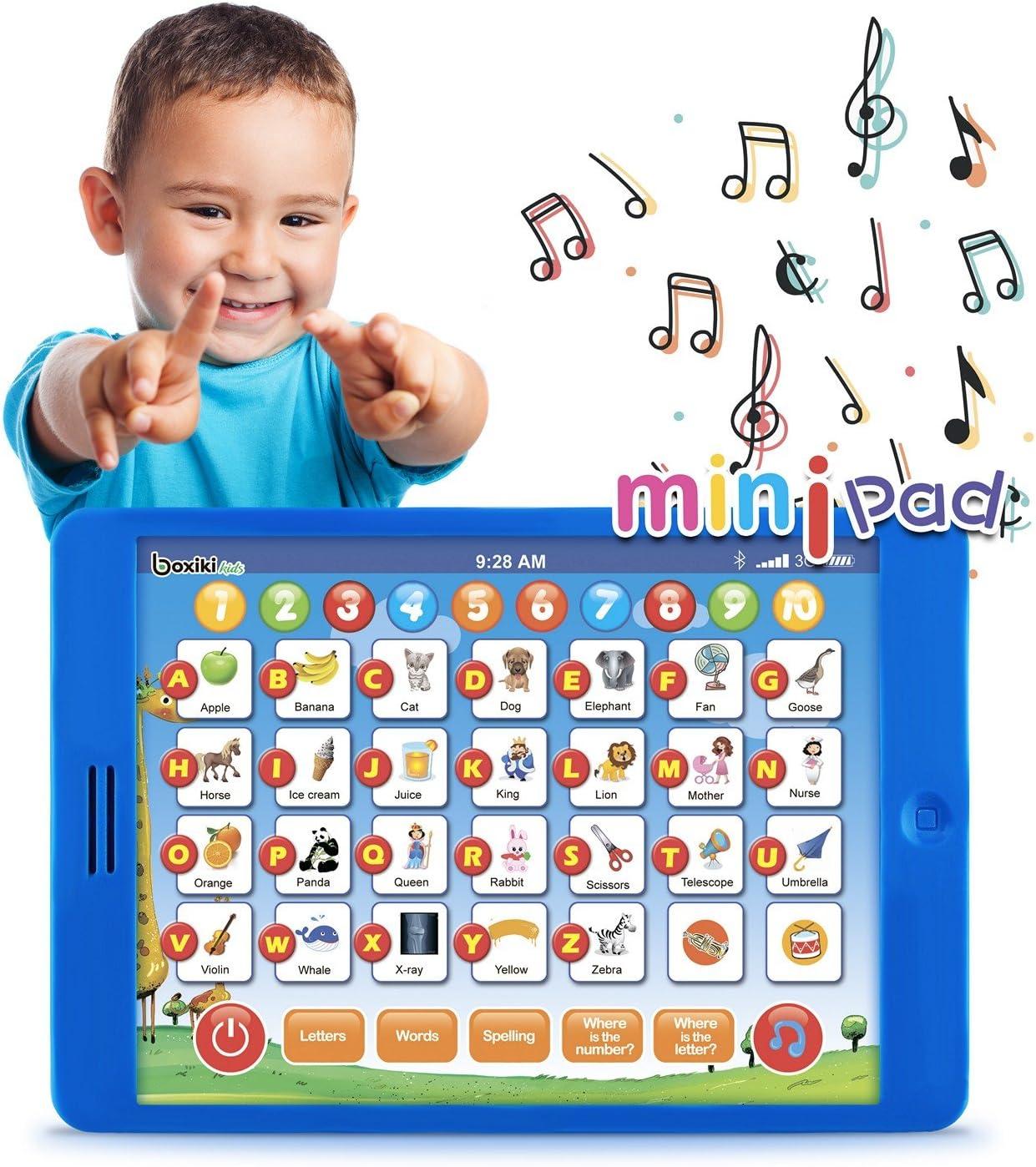 Boxiki kids Tablet Didattico Inglese per Bambini by 6 Giochi Educativi per Lo Sviluppo della Prima Infanzia Giocattolo per l'Apprendimento con Numeri,