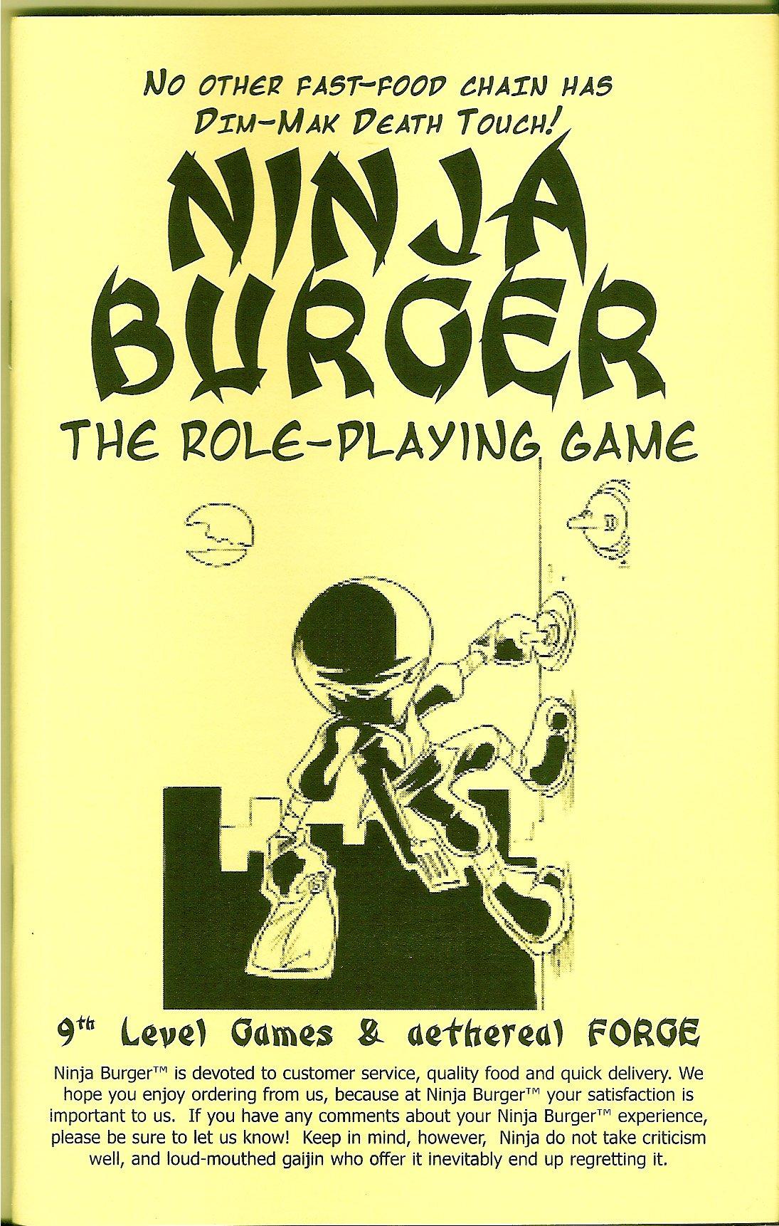 Amazon.com: Ninja Burger: The Role-Playing Game: Michael ...