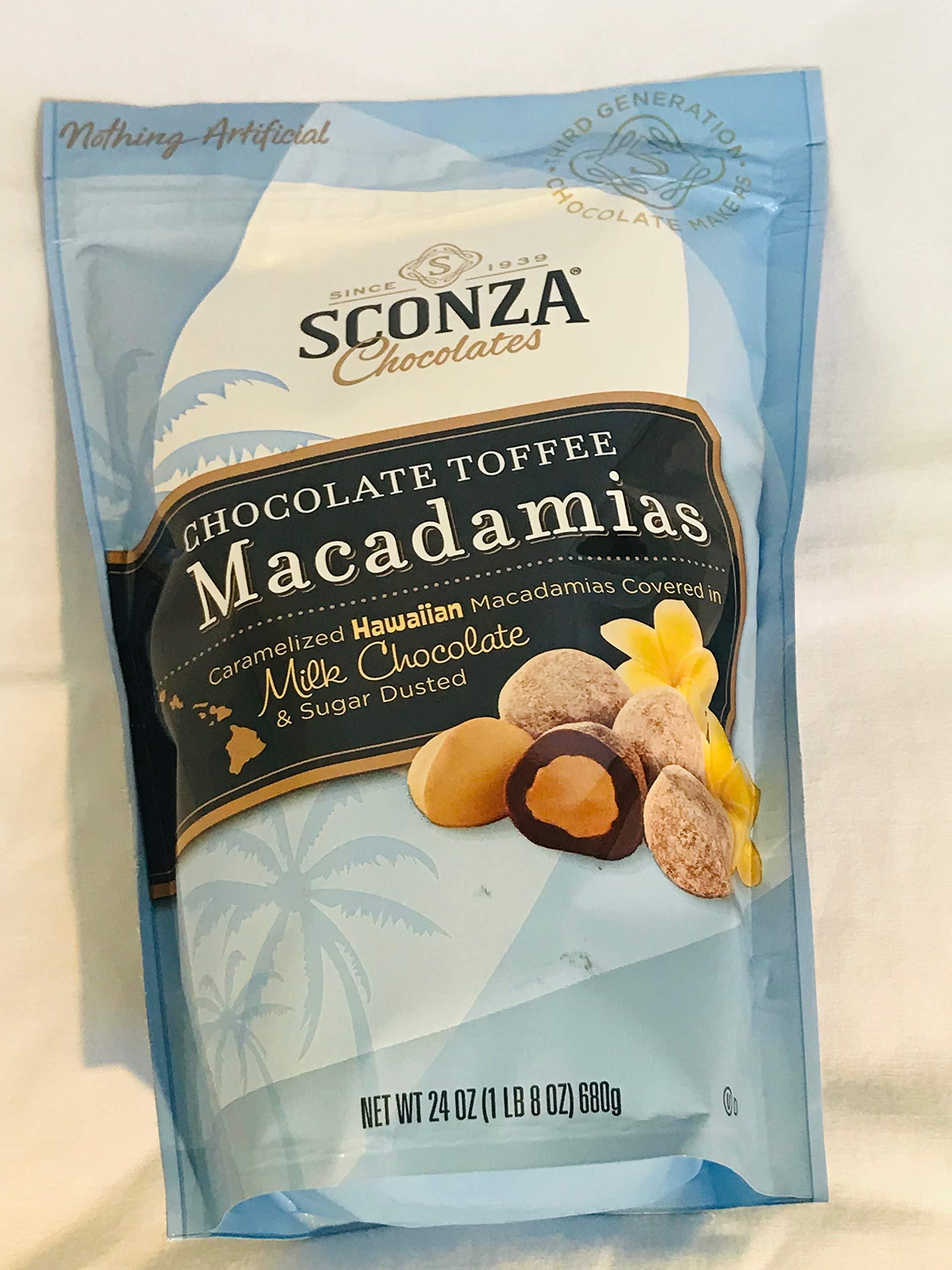 Sconza Chocolate Toffee Macadamias