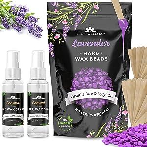 Hard Wax Beans Wax Beads Hard Wax Kit 1.20lb - Hard Wax Beads - Waxing Spatulas - Hair Removal Wax - Body Wax