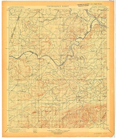 Amazon Com Yellowmaps Sansbois Ok Topo Map 1 125000 Scale 30 X