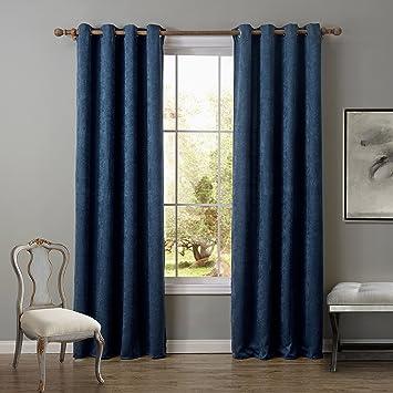 FADFAY Energy Efficient Blackout Curtain Panel 52quot X 95quot