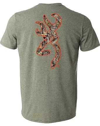 353853a27265a Browning Classic Buckmark T-Shirt (XL)- Hthr Military Blaze