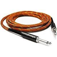 Urbanphonics Professional Câble pour Guitare Électrique, Électro-Acoustique, Guitare Basse, et Clavier - Tressé de Haute Qualité Tweed - Couleur Cuivre - 1/4 droite Jack Jack Standard - 10 pieds (3 m)