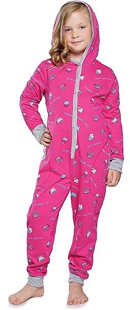 Italian Fashion IF Pijama Entero 1 Pieza Ropa de Dormir Niña IF180031 (Amaranto, 86