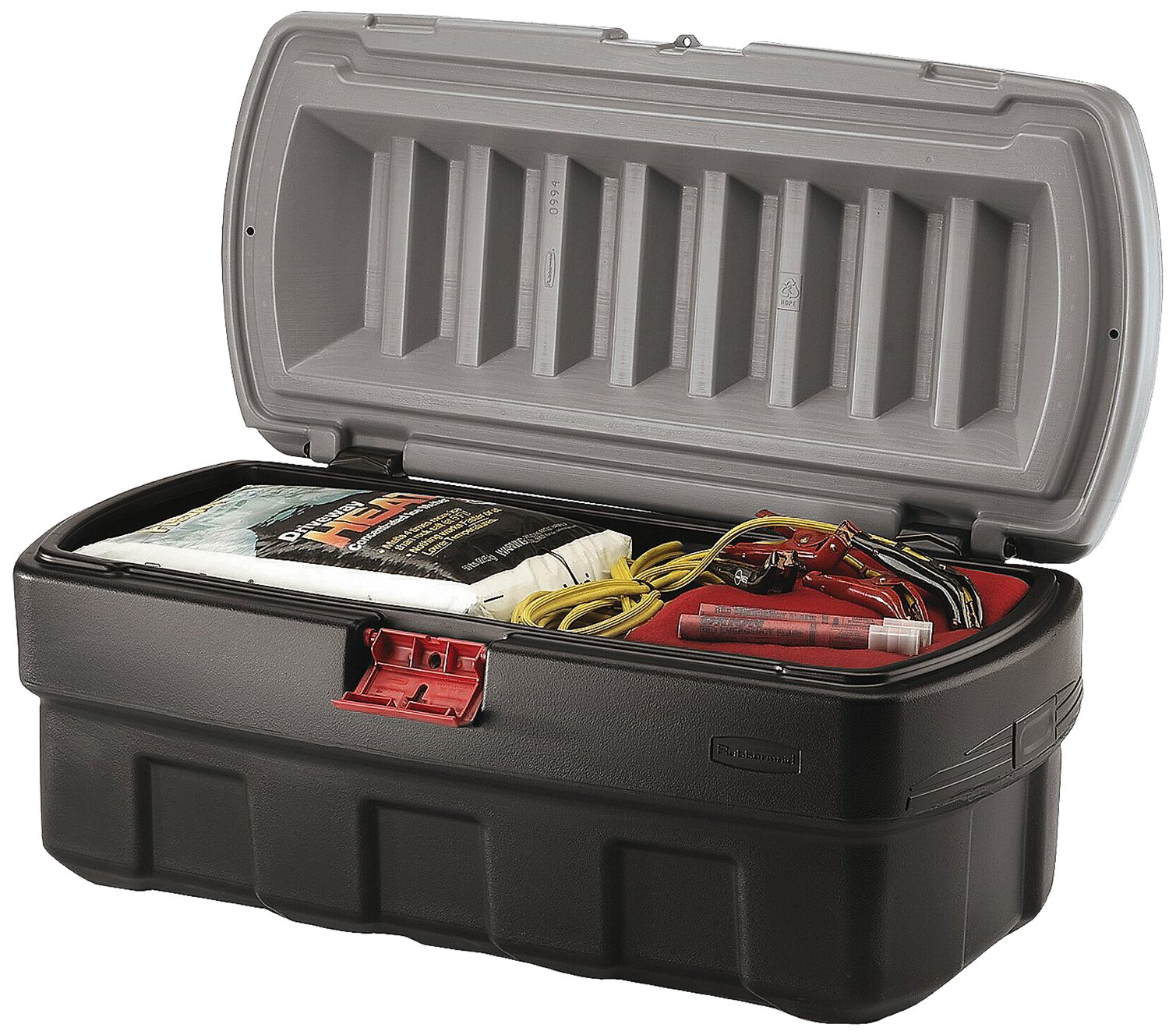 Rubbermaid ActionPacker Lockable Storage Box, 48 Gallon, Grey and Black (1949210)