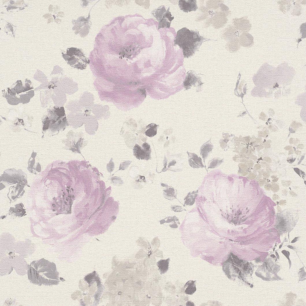 Galerie Wallcoverings Rasch Florentine 448832 Pinks Grey