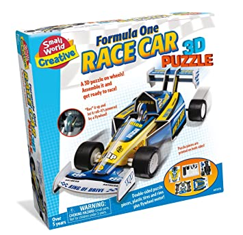 Small World Toys Creative -Formula One Race Car 3D Puzzle