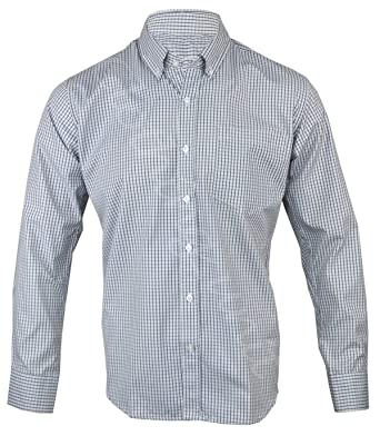 cd26d82f147 Clothing Unit Mens Polycotton Check Long Sleeve Shirt Soft Work Casual M -  2XL  Amazon.co.uk  Clothing