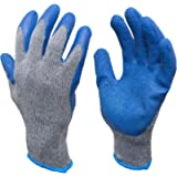 G & F Products - 3100S-10 120 Pairs Small Rubber Latex Double Coated Work Gloves for Construction, Gardening Gloves…