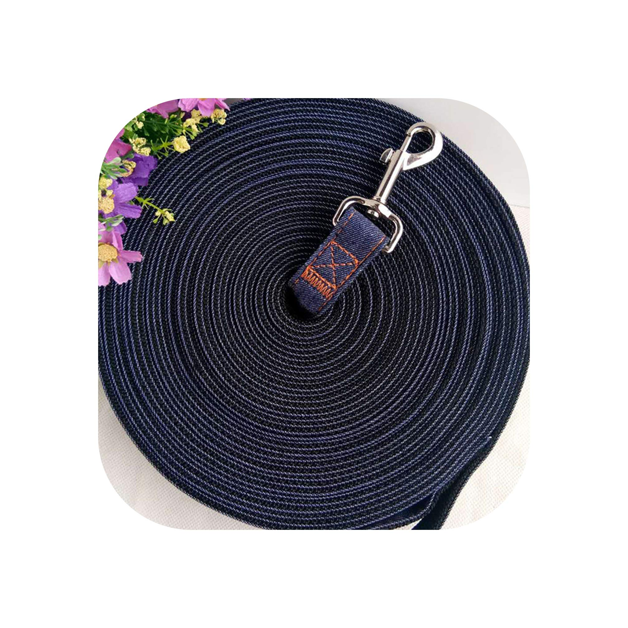 lovely-xj Jean Dog Leash Large Puppy Dog Leash Recall Training Tracking Obedience Rope Long Line Lead for German Shepherd 5m 10m 15m 20m-in Leashes,Blue,15m by lovely-xj