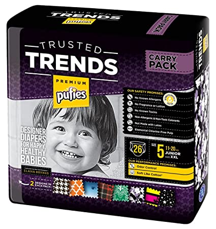 Pufies Trusted Trends Moroccan - 26 Pañales, talla 5, 11-20 kg