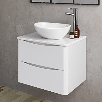 Fantastic 600Mm Bathroom Furniture Countertop Vanity Unit Camila Basin Gloss White Wall Hung Download Free Architecture Designs Meptaeticmadebymaigaardcom