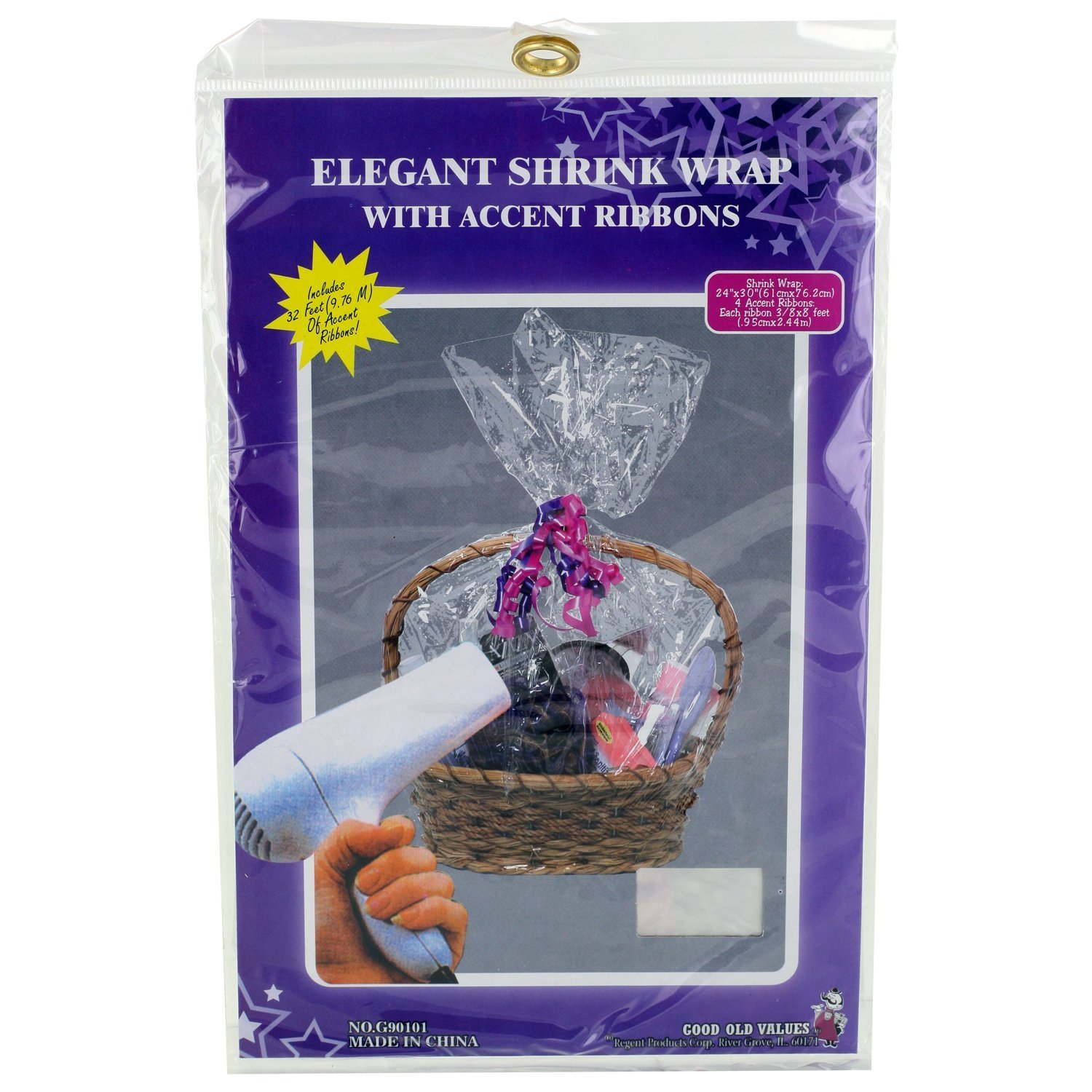 Amazon easter basket gift wrap cellophane shrink wrap with 4 amazon easter basket gift wrap cellophane shrink wrap with 4 ribbons health personal care negle Choice Image