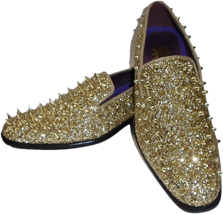 AM 6788 Mens Gold Shiny Glitter Mega