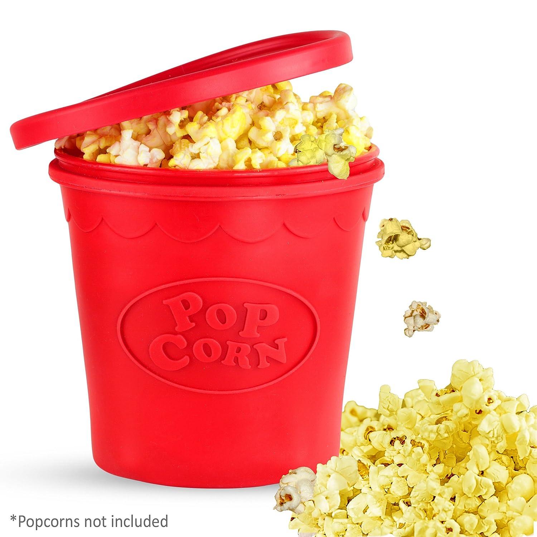 Popparoo - Palomitas de maíz para microondas redondas, sin BPA ...