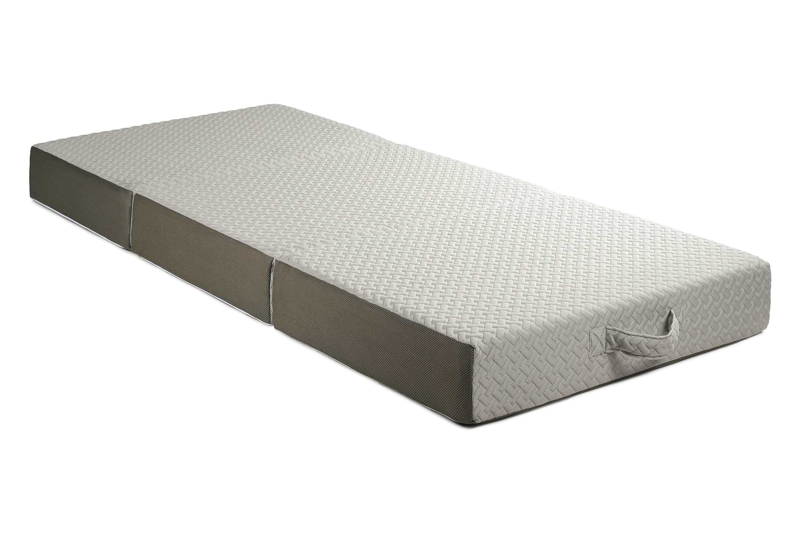 Milliard 6-Inch Memory Foam Tri Folding Mattress with Ultra Soft Removable Cover and Non-Slip Bottom (75 inches x 31 inches) by Milliard