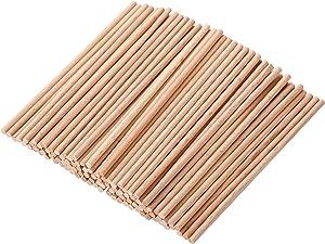 HealthGoodsIn - Natural Bamboo Dowel Sticks for Craft Projects | Project Dowel Sticks Made of Natural Bamboo (Pack of 100) (18 cm)
