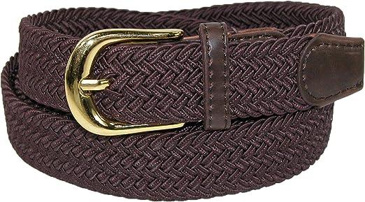TALLA L. CTM Cinturón elástico trenzado elástico para mujer