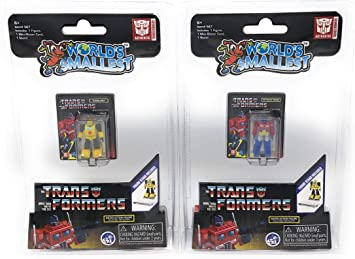 WorldS Smallest Transformers Bundle Set de 2 Minifiguras – Optimus Prime – Bumblebee: Amazon.es: Juguetes y juegos