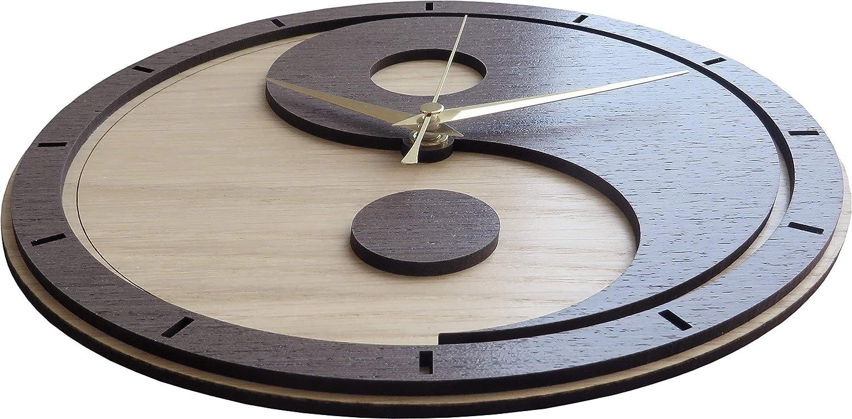 Yin Yang Wooden Clock Yin and Yang//Yin-Yang