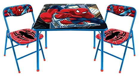 Astounding Buy Marvel Spider Man 3 Piece Table And Chair Set Online At Andrewgaddart Wooden Chair Designs For Living Room Andrewgaddartcom