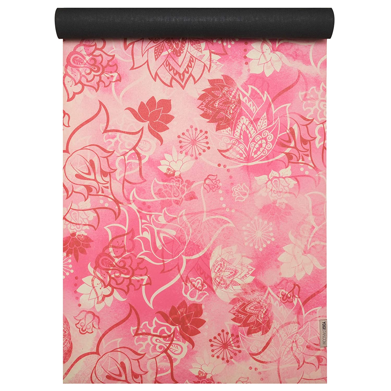 YOGISTAR Yogamatte travel art collection lotus rose-ROT