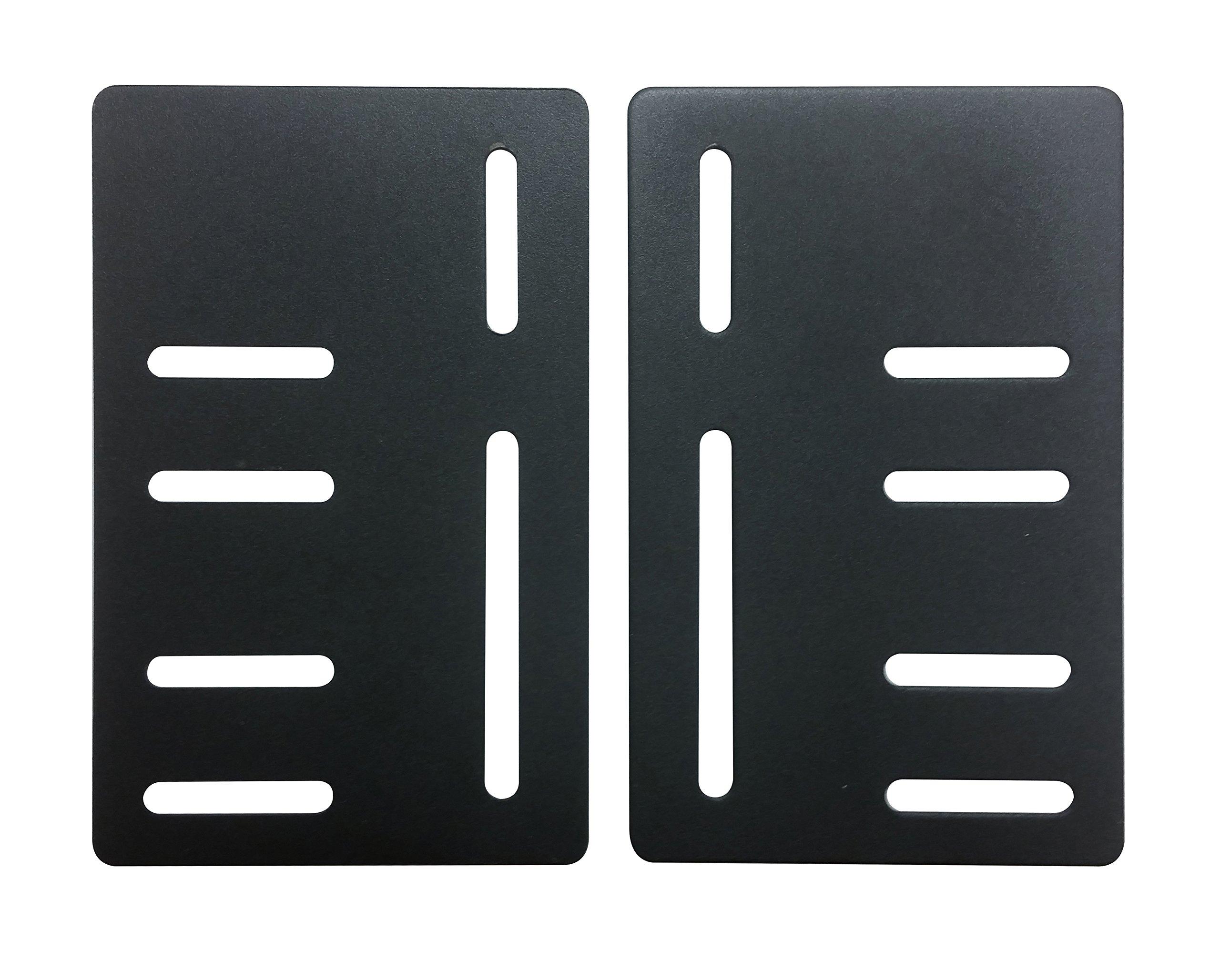 Kings Brand Bed Frame Headboard Bracket Modification Modi-Plate ~Set of 2 Plates~ by Kings Brand Furniture (Image #1)