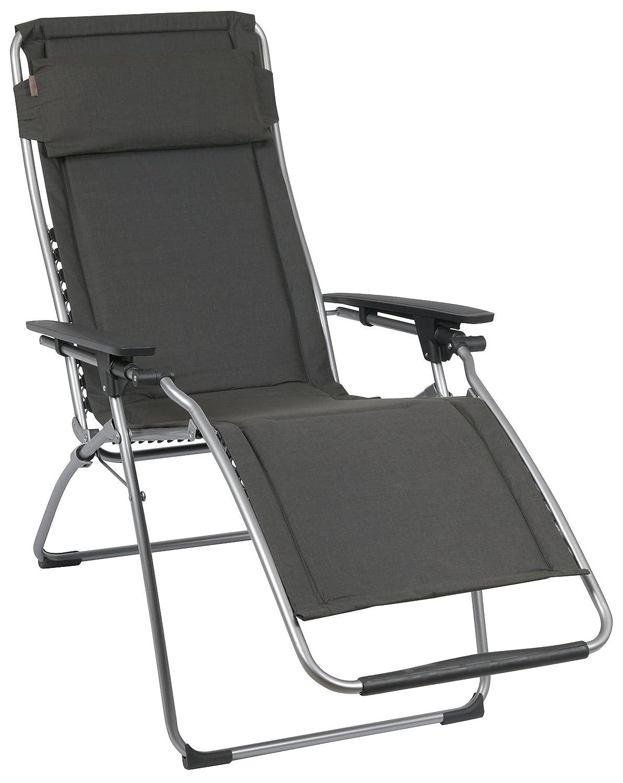 Lafuma LFM3061-4258 Relax-Liegestuhl, klappbar und verstellbar, Futura, ardoise dunkelgrau