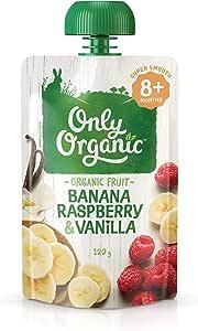 Only Organic Banana Raspberry & Vanilla 8+ Months - 120g