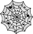 """DII Halloween Lace Table Topper for Halloween Parties, Décor, Dinners, 40"""" Dia Round, Black"""