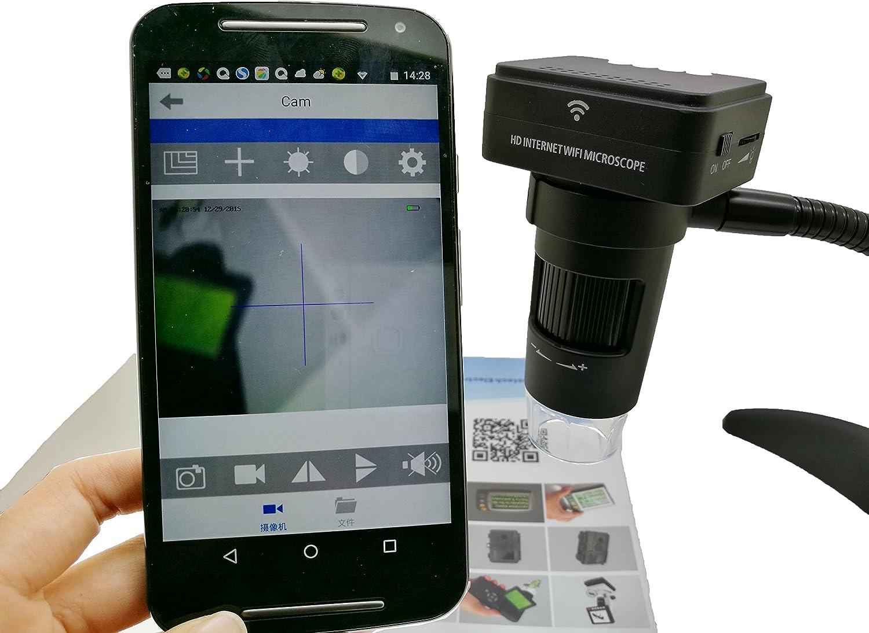 HJJH WiFi USB Digital Handheld Microscope, 10 A 200X Magnifying ...
