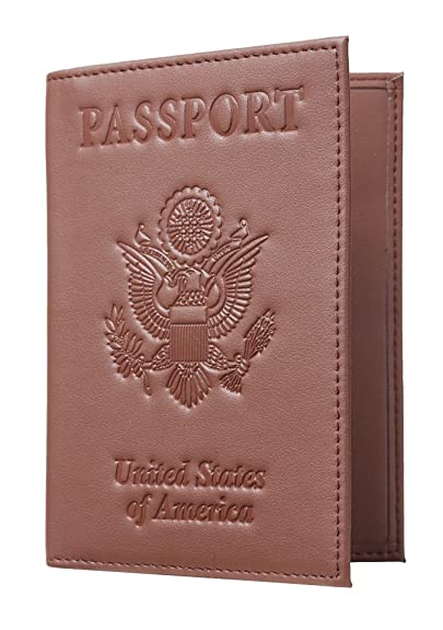 4fc6e2071a Travelambo RFID Blocking Genuine Leather Passport Holder Wallet Cover  (brown)