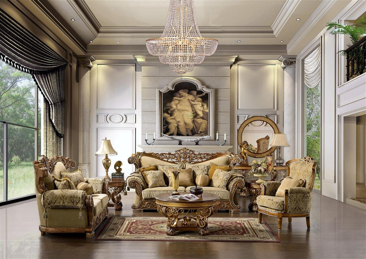 Amazon com cairo sofa loveseat and chair in amber gold kitchen dining