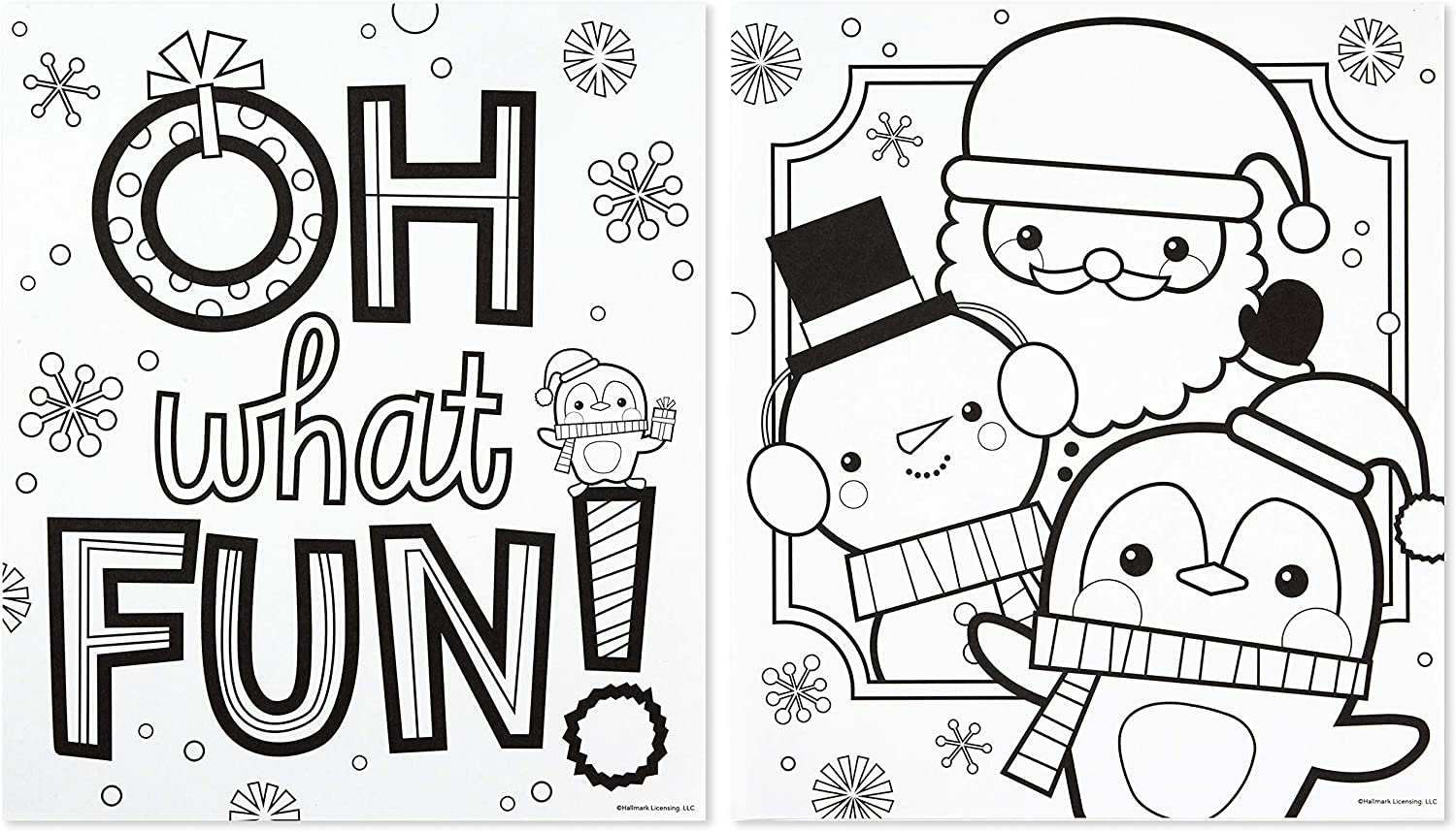 Envelopes Coloring Pages And Crayons Polar Friends Hallmark Letters To Santa Kit With Stickers Greeting Card Envelopes