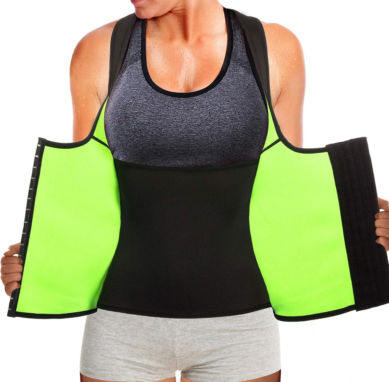 Gilet Sauna Shaper Taille Sport Ceinture de Taille Br/ûle Les Graisses pour Fitness Yoga Endurance Training pour Perte de Poids Gilet Sauna Hommes Femmes Gilet Shaper Trainer Taille