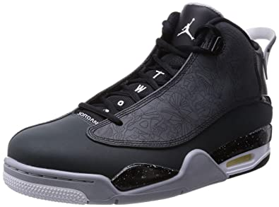 bba2383cad5a Jordan Nike Men s Air Dub Zero Black White Clssc CHRCL WLF Gry Basketball