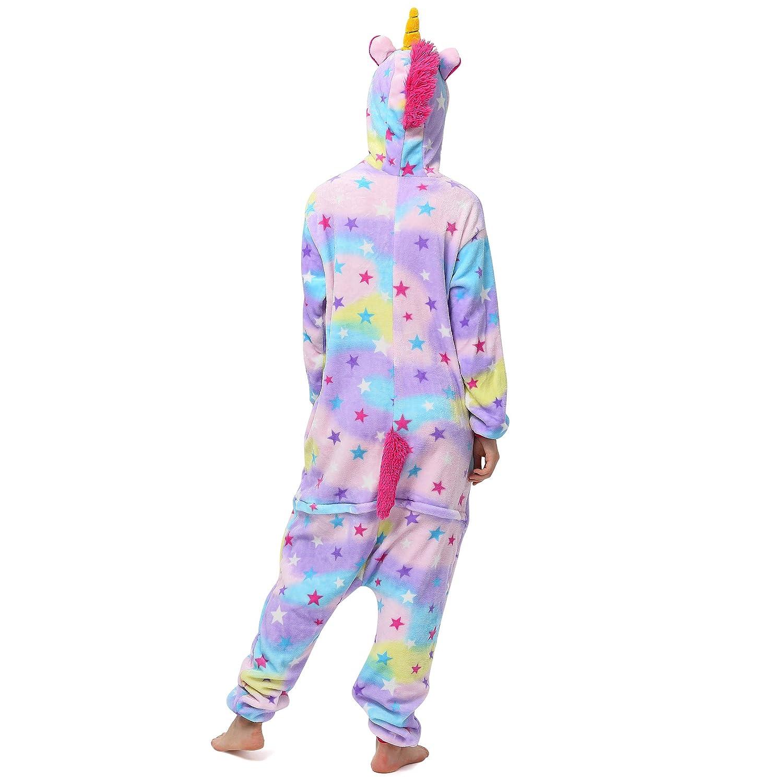 Katara 1744 Kigurumi Unisex Adulti Costume Animale Pigiama intero Carnevale Unicorno Lilla 165-175cm