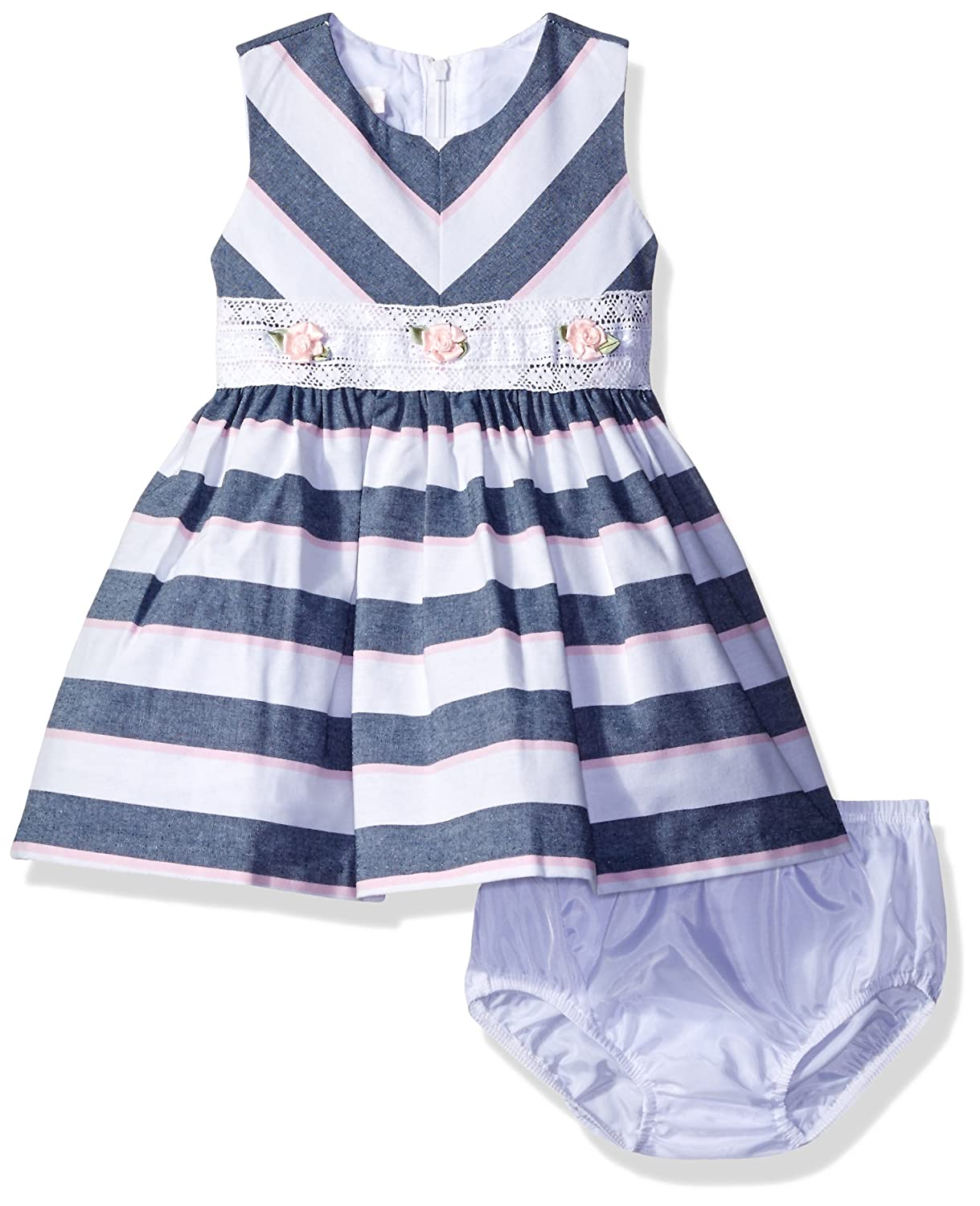 c62836201b17 Top1  Bonnie Baby Baby Girls  Chambray Dress and Panty Set