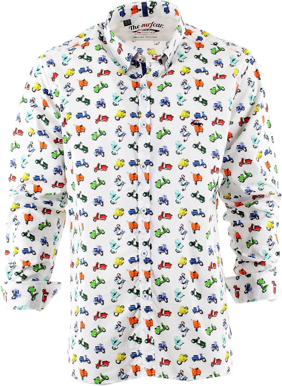 The SurfCar - Camisa casual - para hombre estampado XXXXL: Amazon.es: Ropa y accesorios