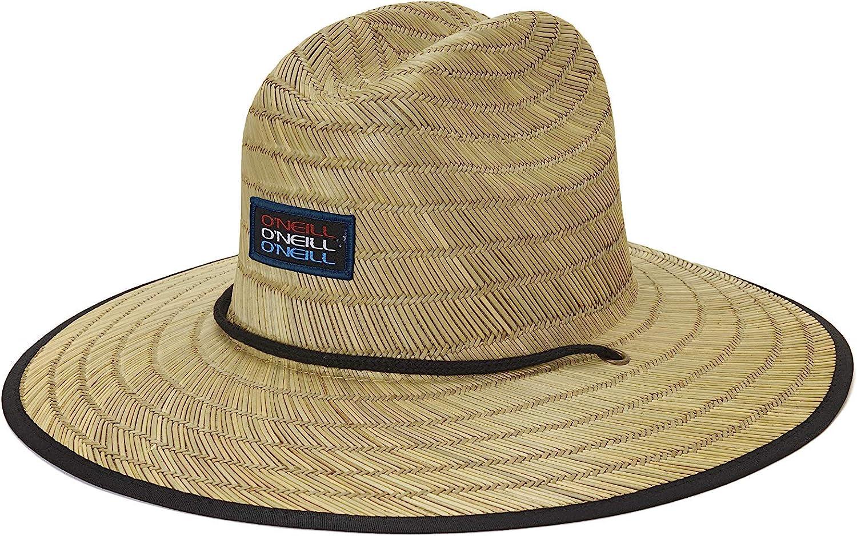 O/'Neill Men/'s Sonoma Straw Lifeguard Hat Natural One Size ONeill Beach Sun Hat