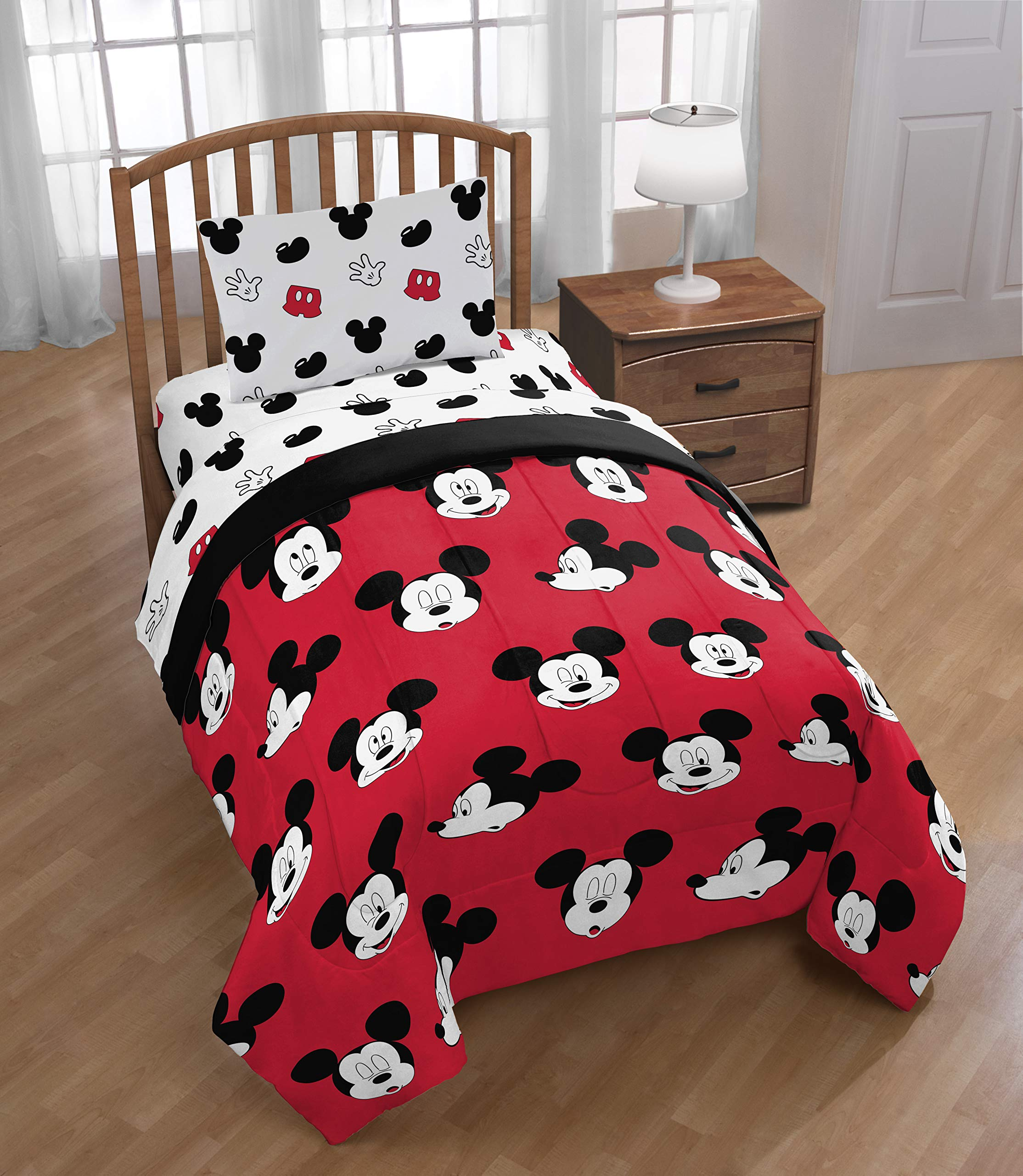 Jay Franco Disney Mickey Mouse Cute Faces 4 Piece Twin Bed Set - Includes Reversible Comforter & Sheet Set - Super Soft Fade Resistant Polyester - (Official Disney Product) by Jay Franco (Image #6)