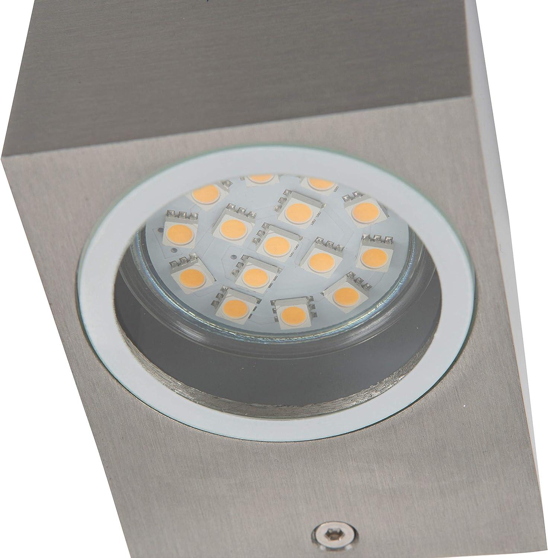 Luz de pared Smartwares 5000.465 Mika LED doble Acero inoxidable
