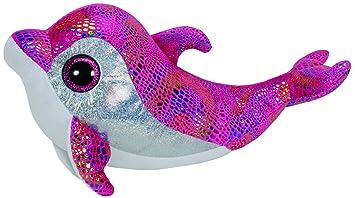 Ty - Sparkles, peluche delfín, 23 cm, color rosa (37011TY)