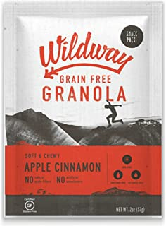 product image for Wildway Keto, Vegan Granola | Apple Cinnamon | Certified Gluten Free Granola Snack Packs, Grain Free, Paleo, Non GMO, No Artificial Sweetener | 4 Pack