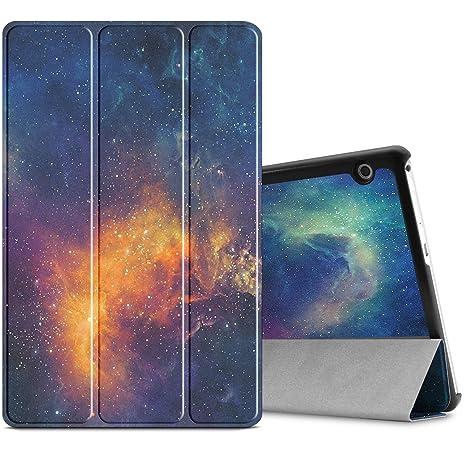nuovo concetto 91ad6 337b1 Infiland Huawei MediaPad T3 10 Custodia, Slim Shell in Pelle Ultra Sottile  e Leggera Custodia per Huawei MediaPad T3 10 Tablet Display da ...