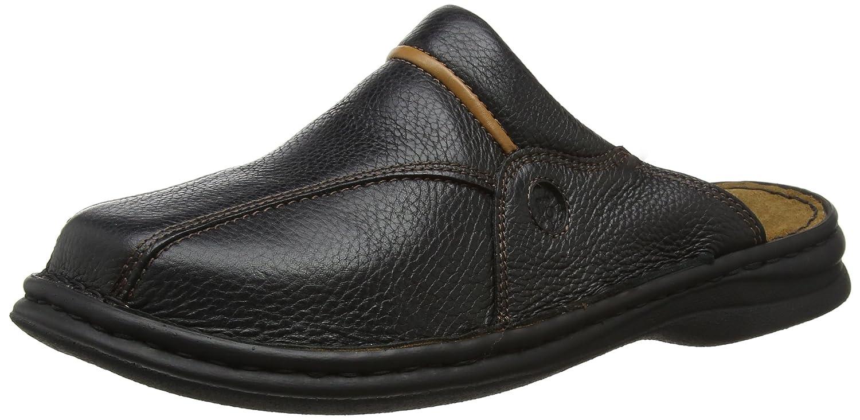 Schwarz(611 SchwarzCognac) Josef Seibel Klaus Herren Clogs   Echtleder-Herrenschuhe für drinnen und draußen   Komfort-Schuhe aus Rindsleder