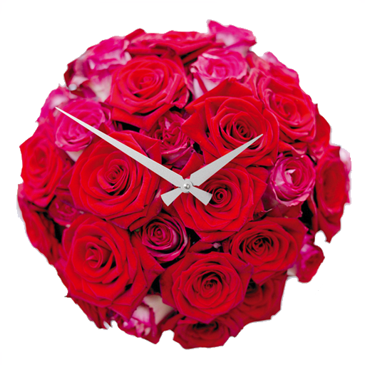 Rose Clock Analog Clock live wallpaper: Amazon.com.br