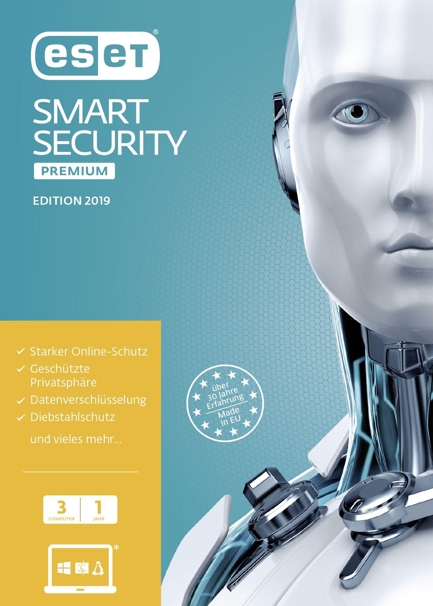 ESET Smart Security Premium 2019 Edition 3 User FFP . Für Windows Vista/7/8/10/MAC/Linux: Amazon.es: Libros en idiomas extranjeros