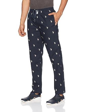 US Polo Association Men's Cotton Lounge Bottom Men's Pyjamas & Lounge Pants at amazon